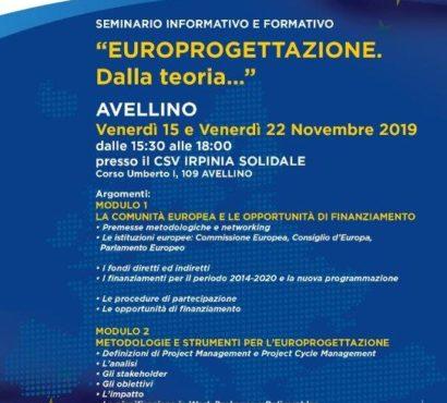 Seminario – Europrogettazione dalla teoria…..