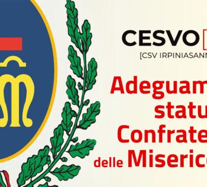 Adeguamento statutario per le Confraternite di Misericordia. Il CSV organizza un evento on line di consulenza e affiancamento